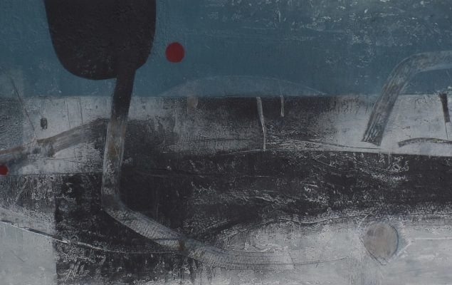 An abstract pastel graphite artwork inspired by Iceland by artist Pete Jackman called Icelandic Horizons