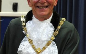 Male Mayor dressed in Mayoral robes at Mayor Making