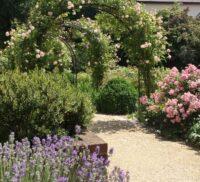 Floral archway in Victoria Garden