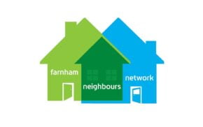Farnham Neighbours Network logo featuring the outline of two houses