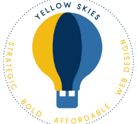 Yellow Skies Logo featuring a hot air balloon